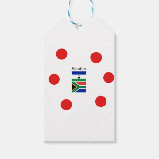 Etiqueta Para Presente Língua de Sesotho e bandeiras de Lesotho/África do