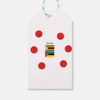 Etiqueta Para Presente Língua de Shona e bandeiras de Zimbabwe e de