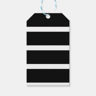 Etiqueta Para Presente Listra preta com branco