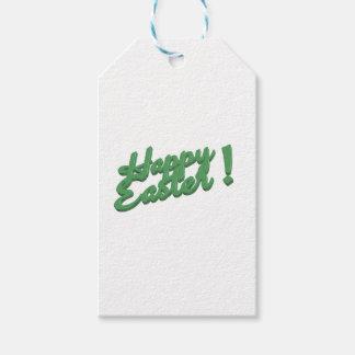 Etiqueta Para Presente Logotipo verde do felz pascoa
