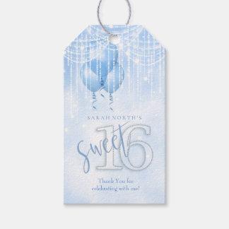 Etiqueta Para Presente Lt do doce 16 das luzes & dos balões da corda.