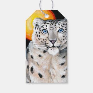 Etiqueta Para Presente Lua do leopardo de neve