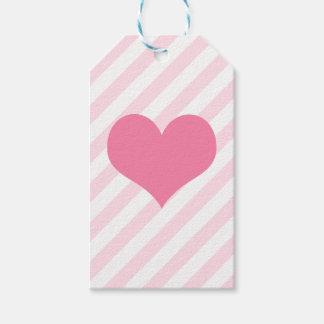 Etiqueta Para Presente Luz - coração cor-de-rosa