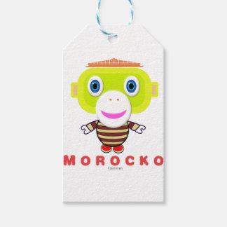 Etiqueta Para Presente Macaco Morocko-Bonito
