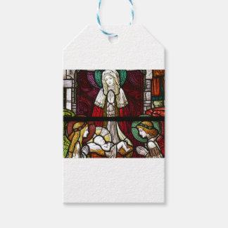 Etiqueta Para Presente Mãe Mary e Jesus de Vitrage do Natal