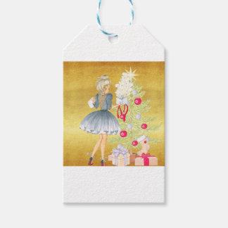 Etiqueta Para Presente Mágica do Natal - louro que decora uma árvore