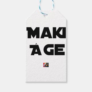 Etiqueta Para Presente MAKI IDADE - Jogos de palavras - François Cidade