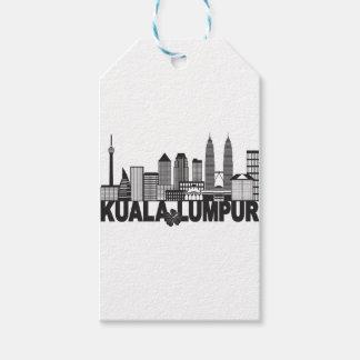 Etiqueta Para Presente Mal preto e branco do texto da skyline da cidade