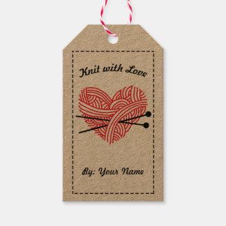 Etiqueta Para Presente Malha com instruções do amor/cuidado • Artesanatos
