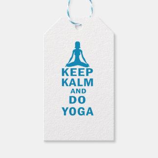 Etiqueta Para Presente mantenha calmo e faça a ioga