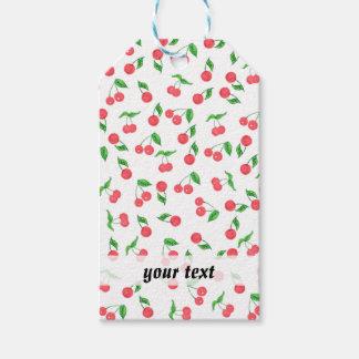 Etiqueta Para Presente mão bonito teste padrão tirado da cereja da