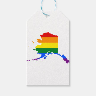 Etiqueta Para Presente Mapa da bandeira de Alaska LGBT