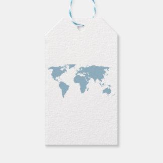 Etiqueta Para Presente Mapa do mundo