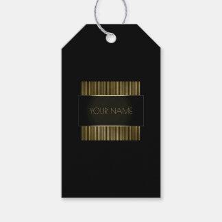 Etiqueta Para Presente Marca mínima conceptual do quadro preto do ouro