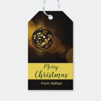 Etiqueta Para Presente Marrom do Tag do presente dos enfeites de natal
