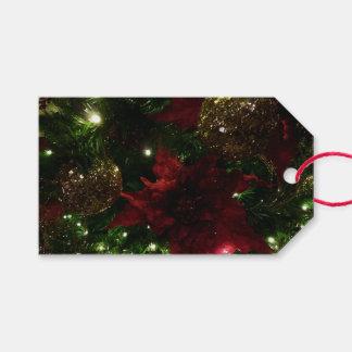 Etiqueta Para Presente Marrom e foto do feriado da árvore de Natal do