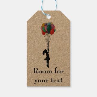 Etiqueta Para Presente Menina com o Tag customisable dos balões
