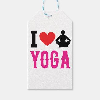 Etiqueta Para Presente menina do amor da ioga bonito