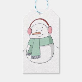 Etiqueta Para Presente Menina do boneco de neve