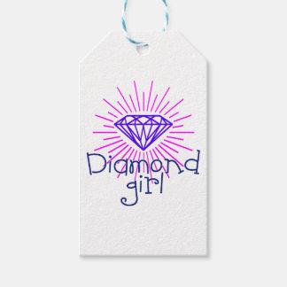 Etiqueta Para Presente menina do diamante, gema que brilha