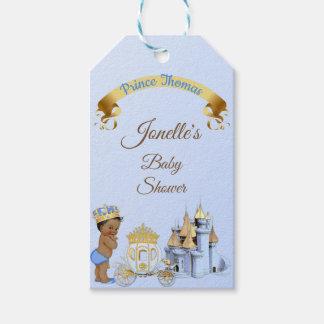 Etiqueta Para Presente Menino real do príncipe Castelo Carruagem Azul