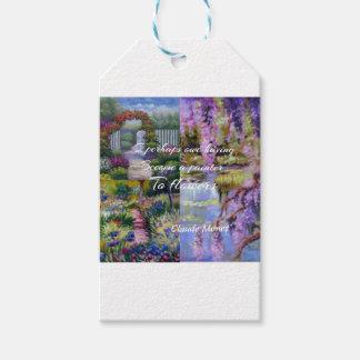 Etiqueta Para Presente Mensagem de Monet sobre flores