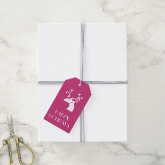 Etiqueta Para Presente Mensagem personalizada do Natal rena branca