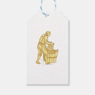 Etiqueta Para Presente Miller medieval com desenho do balde