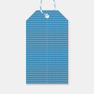 Etiqueta Para Presente Mini prata azul dos diamantes | do Harlequin