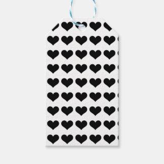 Etiqueta Para Presente Mini Tag pretos dos corações  