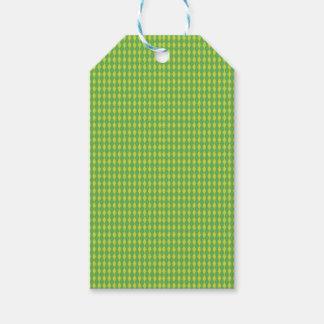 Etiqueta Para Presente Mini verde dos diamantes | do Harlequin