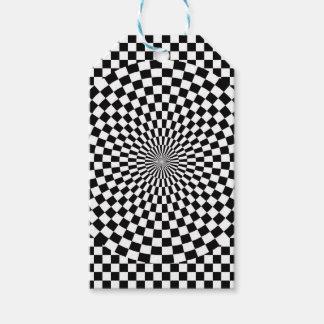 Etiqueta Para Presente Modelo de tabuleiro de xadrez