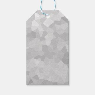 Etiqueta Para Presente Moderno - abstrato cinzento e branco da forma do