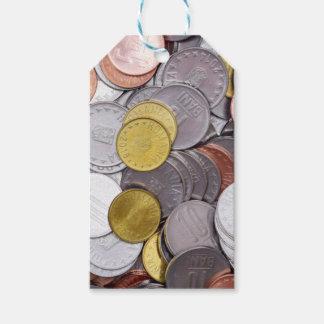 Etiqueta Para Presente Moedas romenas da moeda