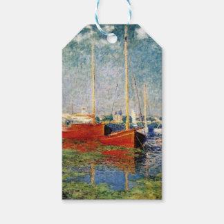 Etiqueta Para Presente Monet - os barcos vermelhos Argenteuil