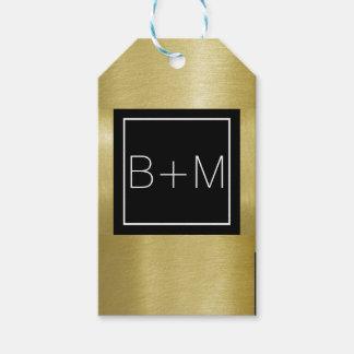Etiqueta Para Presente monograma clássico elegante, casamentos