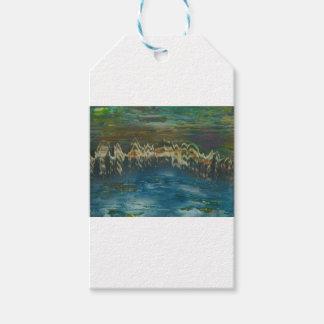 Etiqueta Para Presente Montanhas refletidas no lago do inverno