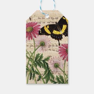 Etiqueta Para Presente Música da borboleta da margarida