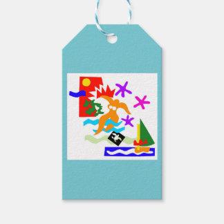 Etiqueta Para Presente Nadador do verão - Tag do presente