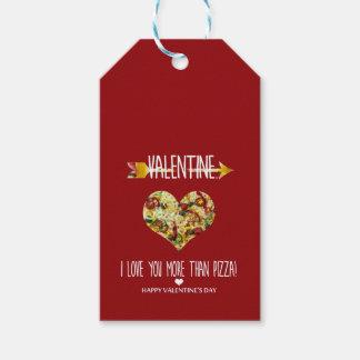 Etiqueta Para Presente Namorados, eu te amo mais do que a pizza