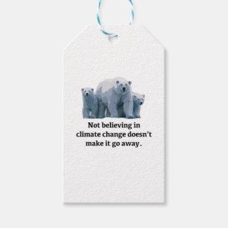 Etiqueta Para Presente Não acreditando nas alterações climáticas