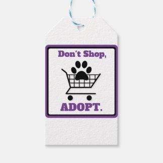Etiqueta Para Presente Não comprar adotam