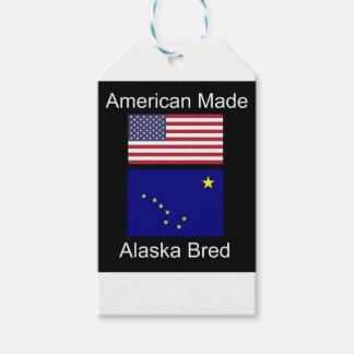 """Etiqueta Para Presente """"Nascer americano. Alaska produziu"""" bandeiras e"""