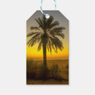 Etiqueta Para Presente Nascer do sol da palmeira