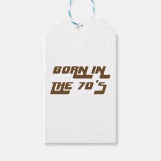 Etiqueta Para Presente Nascer nos anos 70