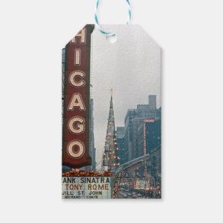 Etiqueta Para Presente Natal 1967 do teatro de Chicago na rua do estado