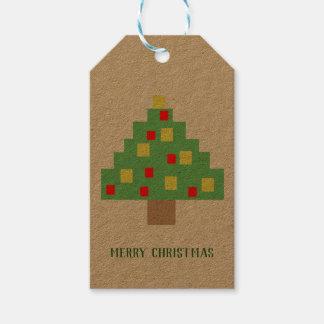 Etiqueta Para Presente Natal de 8 bits retro