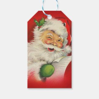 Etiqueta Para Presente Natal de Papai Noel do vintage