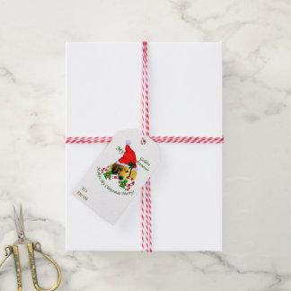 Etiqueta Para Presente Natal do golden retriever