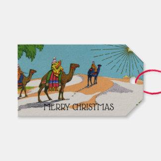 Etiqueta Para Presente Natal do Victorian do vintage três homens sábios
